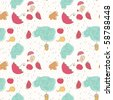 seamless autumn pattern - stock vector