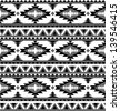 Seamless aztec pattern in black and white 2 - stock vector