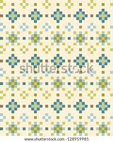 Seamless aztec pattern in light tints - stock vector