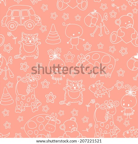 Seamless baby pink background