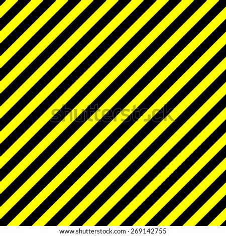 seamless background caution. diagonal pattern - stock vector