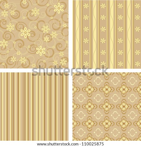 Seamless background Collection, vector Illustration - stock vector