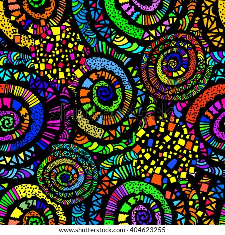 Seamless background colorful pattern. Vector - stock vector