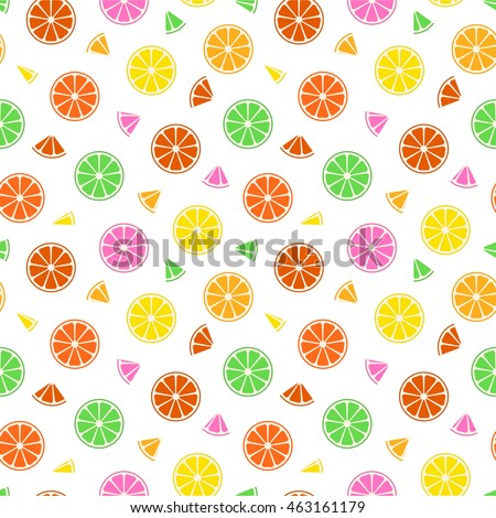 Seamless background consisting of citrus fruits. Summer pattern.