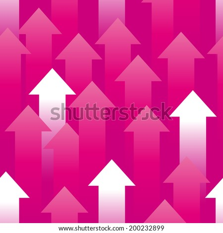 Seamless background consisting of pink and white arrows