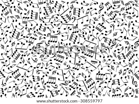 Seamless Background Consisting Symbols Musical Notes Stock Photo
