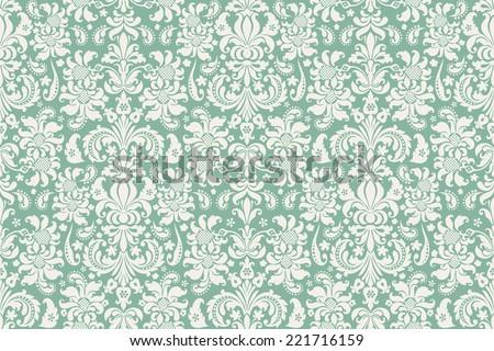 Seamless background Damask. Ornate vintage background - stock vector