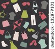 seamless background elements of clothing pattern vector - stock vector