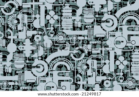 Seamless background from a geometrical ornament, Fashionable modern wallpaper or textile - stock vector