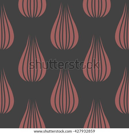 Seamless background from floral abstract elements. - stock vector