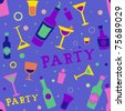Seamless Background Illustration of Cocktail Party Related Items - stock photo