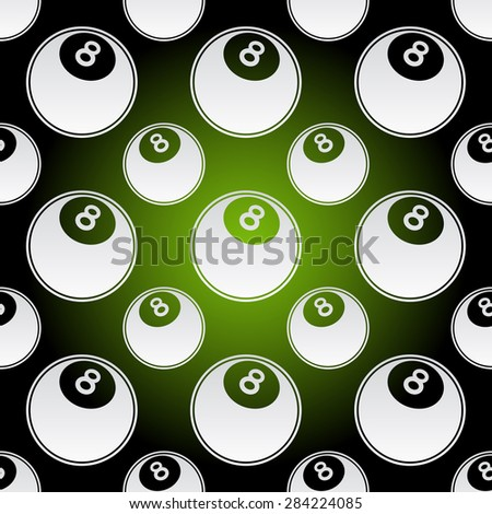 Seamless background illustration of repeating pool balls