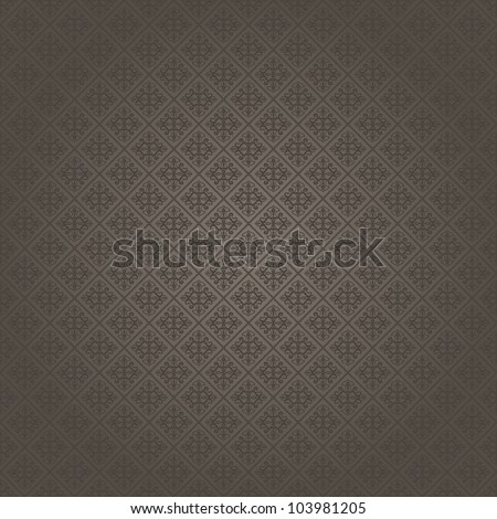 Seamless background in Baroque style dark-colored - stock vector