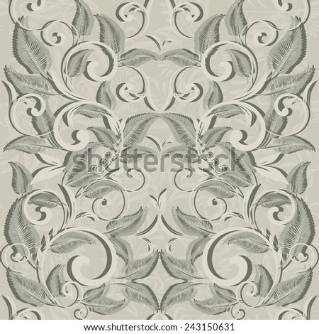 Seamless background in the baroque style