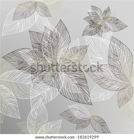 seamless background. leaves of the tree. Vector - stock vector