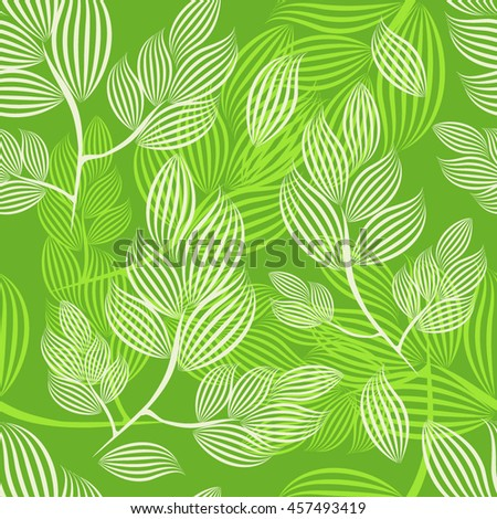 Seamless background of branches of the lines. Vector