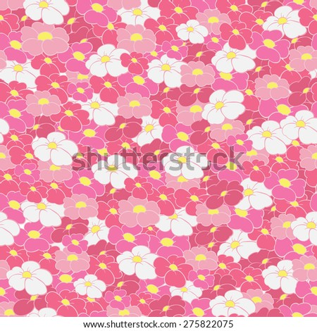 seamless background of bright flowers - stock vector