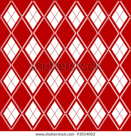 Seamless background of diagonal red plaid pattern