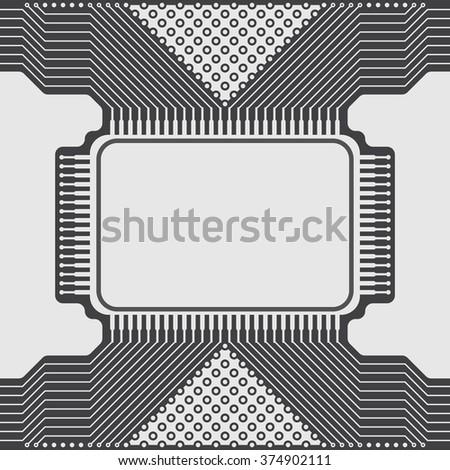 Seamless background of electrical circuit of computer board device (motherboards). Gray Light Abstract Technology background for computer graphic website internet business. Electrical circuit - stock vector