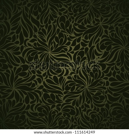 Seamless background of green - stock vector