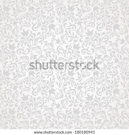 Seamless background of grey color in the style of baroque - stock vector