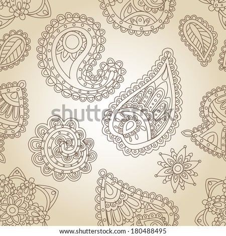 Seamless background of Indian patterns