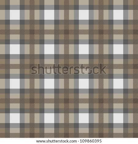 Seamless background of plaid pattern, vector illustration - stock vector