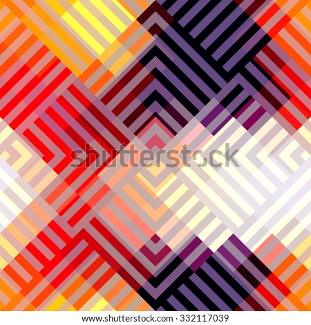 Seamless background pattern. Abstract blue geometric pattern. - stock vector