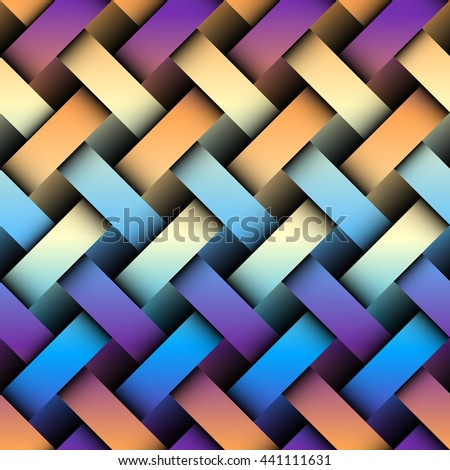 Seamless background pattern. Abstract plaid pattern with imitation of interweaving bands - stock vector