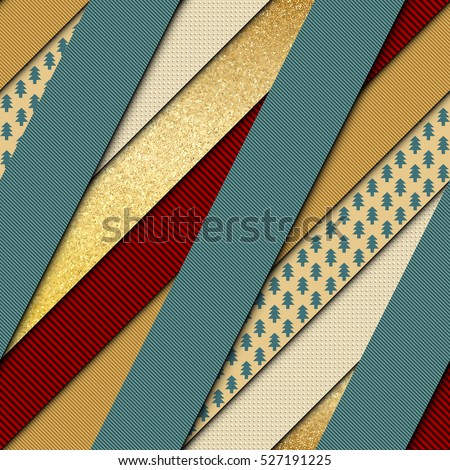 Seamless background pattern in trendy material design style. Imitation of a textured Merry Christmas papers.