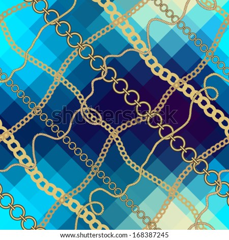 Seamless background pattern. Will tile endlessly. Nautical style. - stock vector