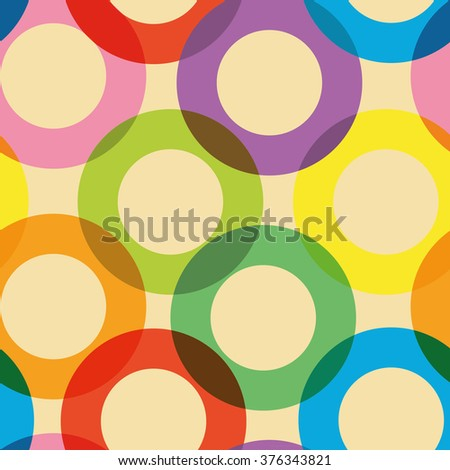 seamless background pattern with circles - stock vector