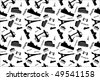 Seamless background pattern with landmarks. - stock vector