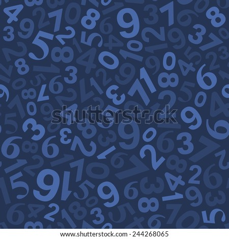 Seamless Background Pattern with Numbers. Vector illustration - stock vector