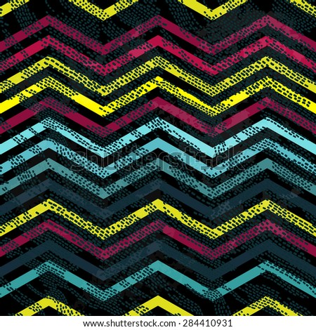 Seamless background pattern with poligonal form and dashed lines. - stock vector
