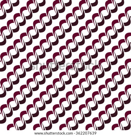 Seamless background pattern with repeating endless chains isolated on the white (transparent) background. Vector eps illustration