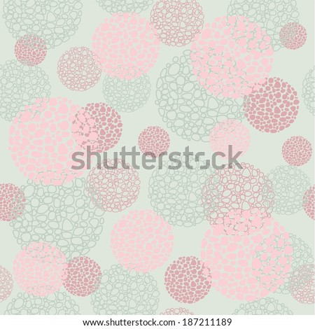 seamless background pink round forms