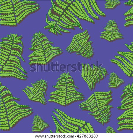 Seamless background, plant on a bright background - stock vector