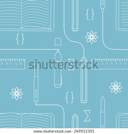 Seamless background science and education - stock vector