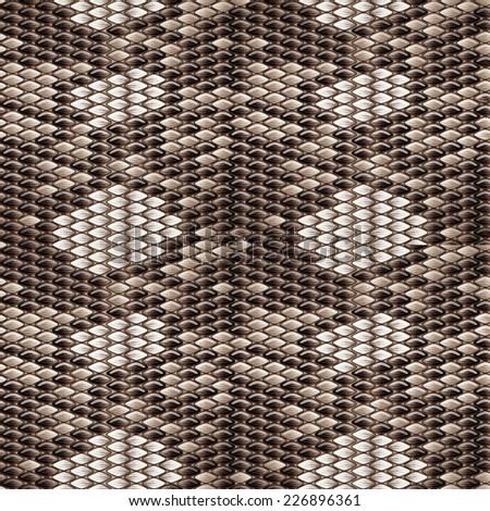 seamless background - snakeskin - stock vector