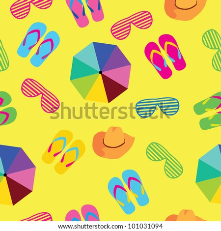 seamless background summer accessories