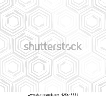 Seamless background template made from hexagons - stock vector