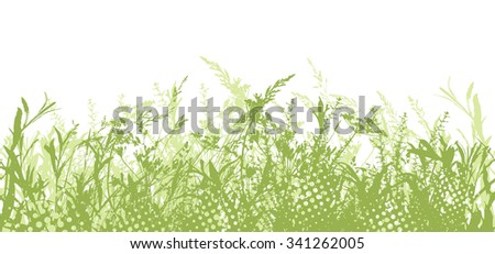 Seamless Background Tracing grass. Vector