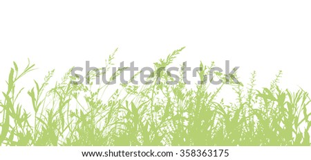Seamless Background Tracing of grass. Vector