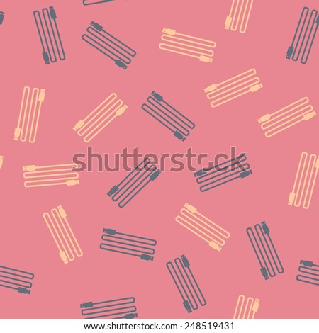 seamless background: usb, plug - stock vector
