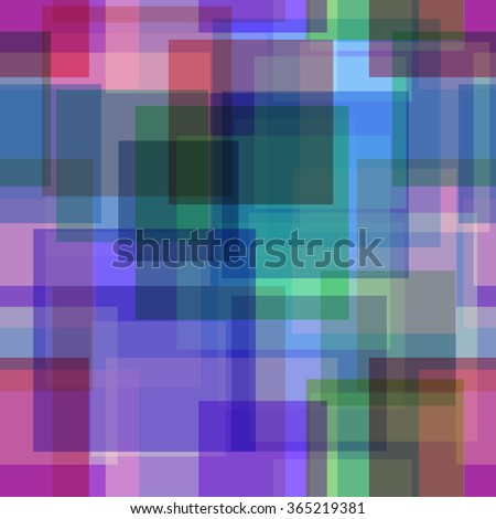 Seamless Background with Abstract Colorful Geometric Pattern. Eps10, Contains Transparencies. Vector