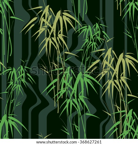 Seamless background with bamboo - stock vector