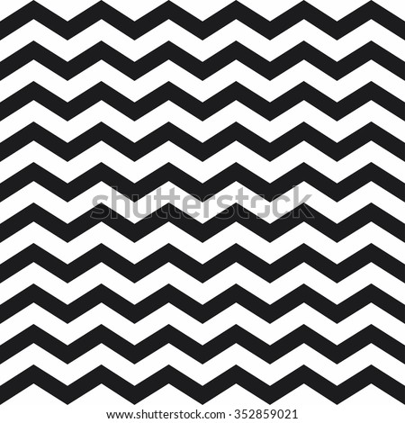 seamless background with black stripes in zigzag - stock vector