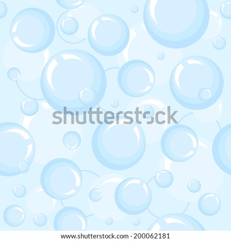 Seamless background with bubbles. Vector illustration. Abstract pattern. - stock vector