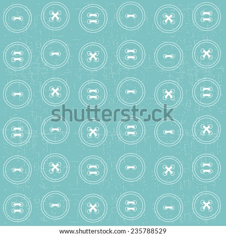 Seamless background with buttons for your needlework design - stock vector